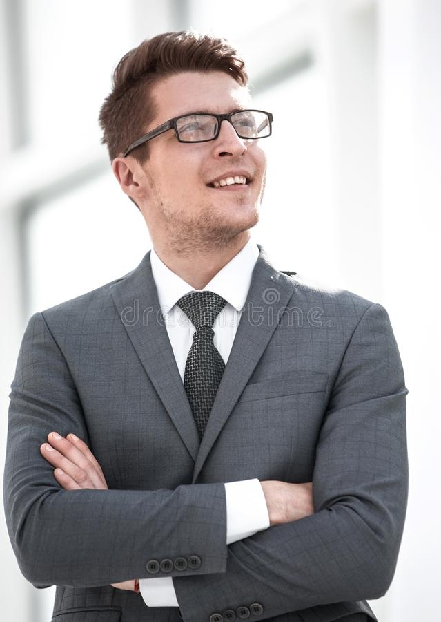 Portrait of a modern young businessman. royalty free stock image