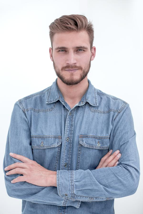 Portrait of a modern young man stock photography
