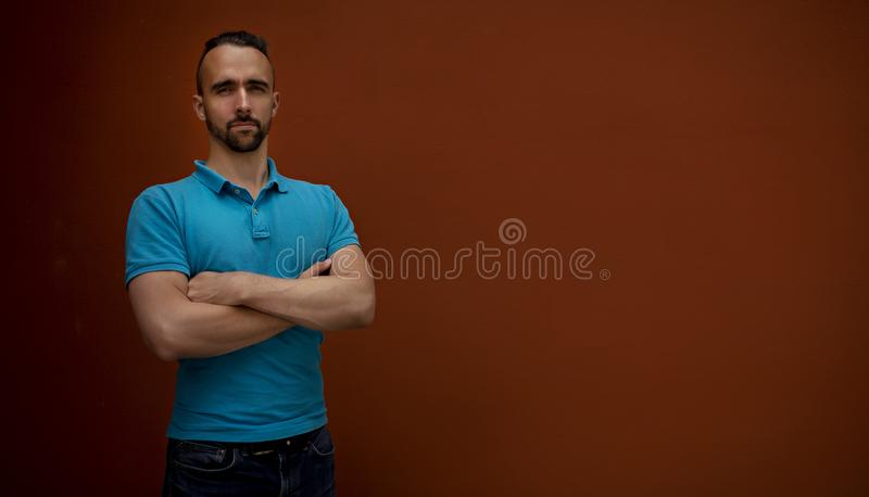 Portrait of modern young man stock images