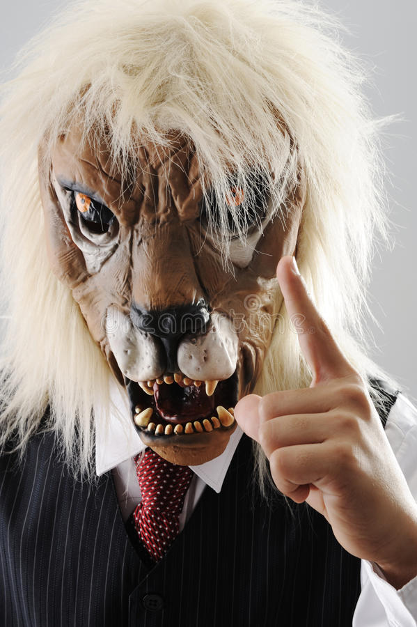 Portrait of monster boss with face stock photos