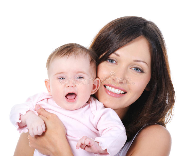 Download Portrait Of Mother With Baby Stock Image - Image of brightly, glad: 14510105