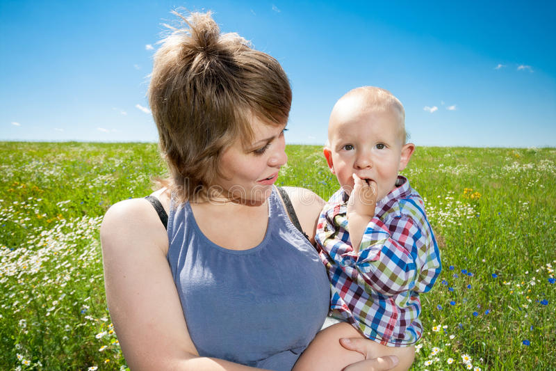 Portrait of mother and baby royalty free stock image