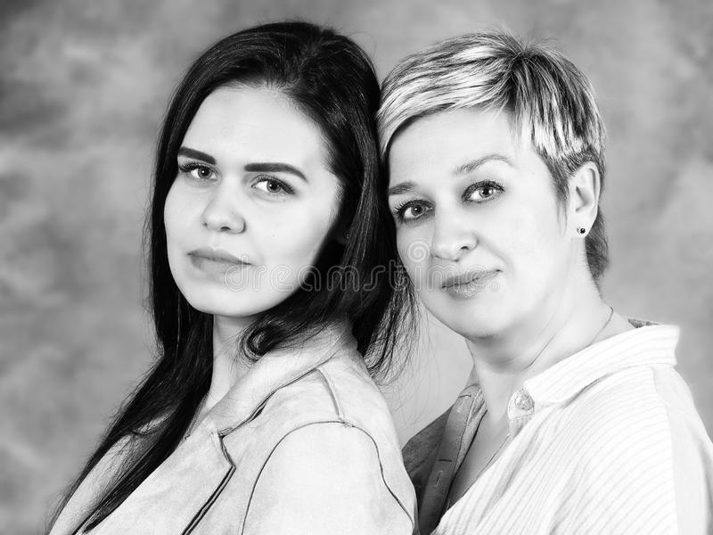 Portrait of Mother with her daughter royalty free stock photo