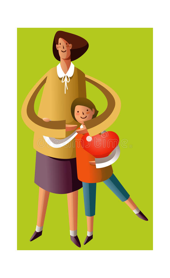Download Portrait of mother and son stock vector. Image of holding - 26902502