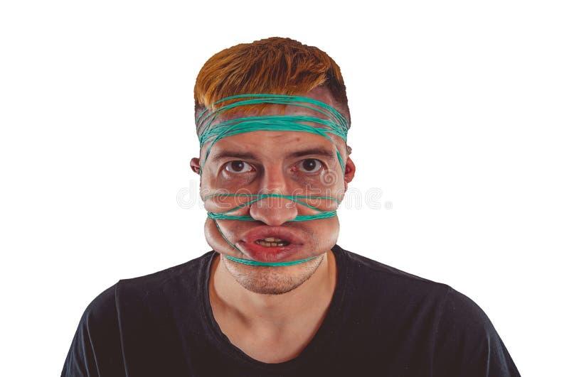 Portrait ?motif d'un type fou en plan rapproch? images libres de droits