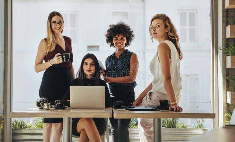 Portrait of multi-ethnic businesswomen together stock photos