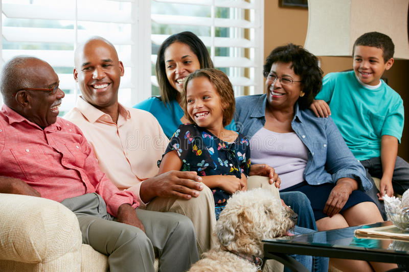 Portrait Of Multi Generation Family stock image