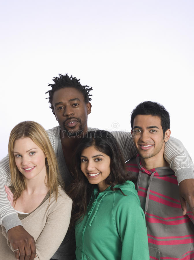 Portrait Of Multiethnic Young People stock images