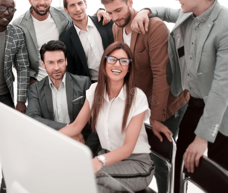 Portrait of a multinational business team in a modern office stock photography