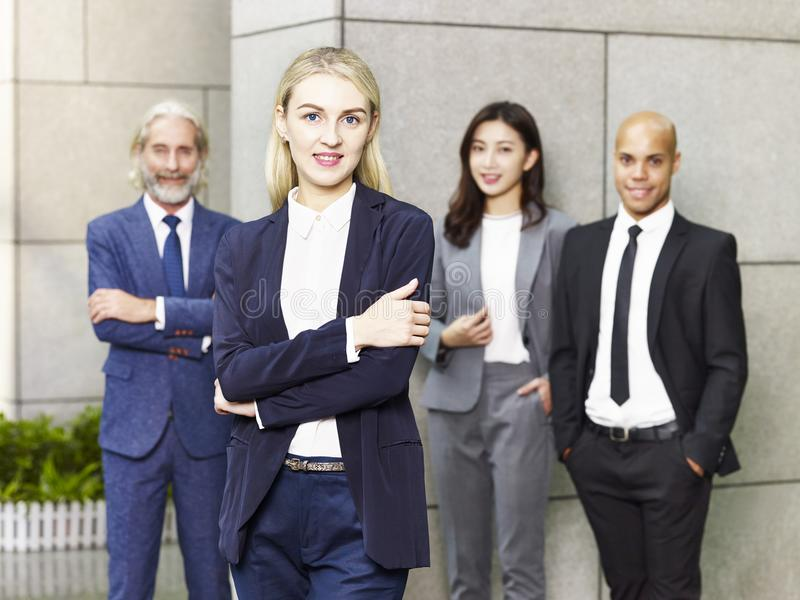 Portrait of multinational and multiethnic business team royalty free stock photography