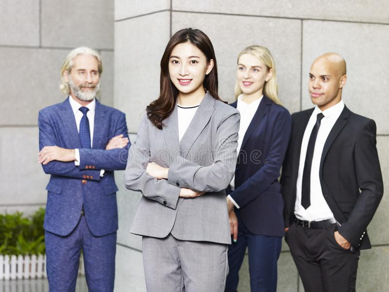 Portrait of multinational and multiethnic business team royalty free stock images