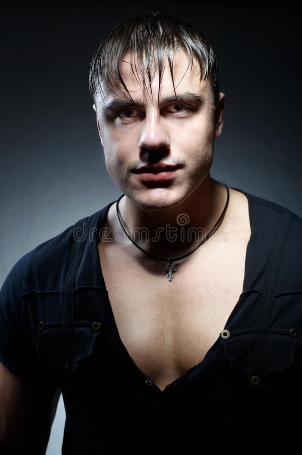 Download Portrait Of Muscular Young Handsome Man Stock Image - Image: 15974537