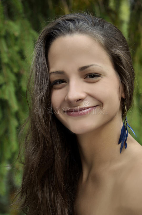 Portrait of a natural beauty girl royalty free stock image