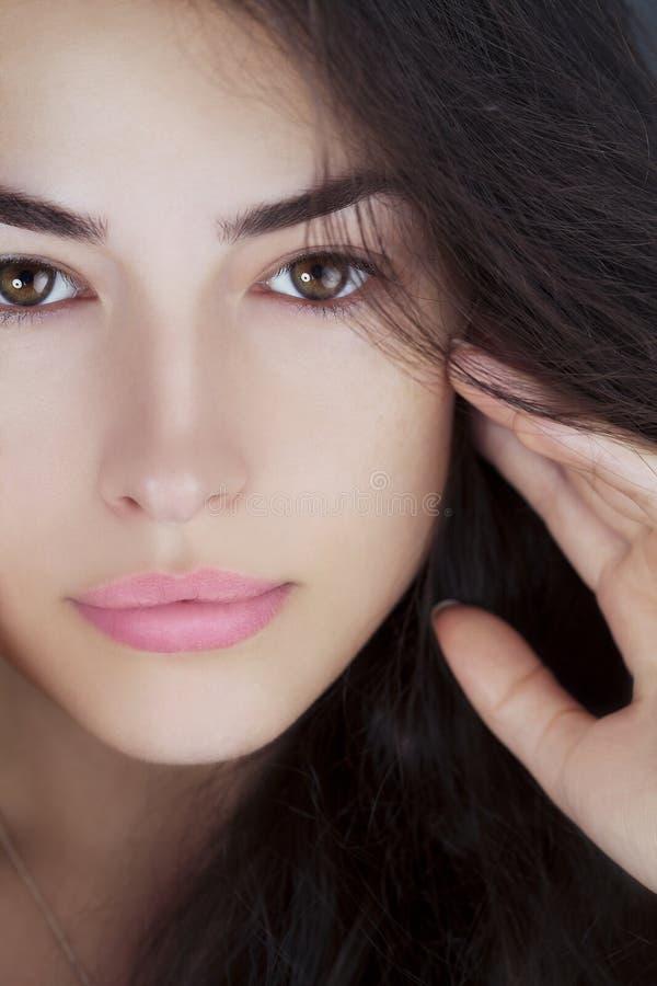 Portrait naturel de beauté de regard photos libres de droits