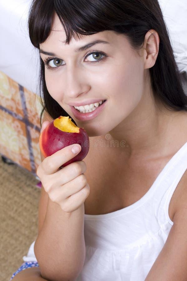 Portrait with nectarine