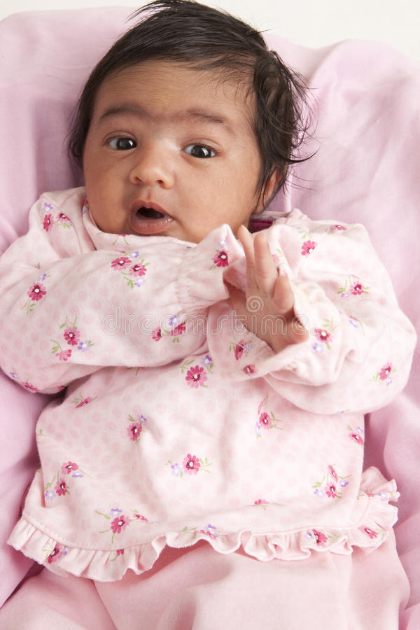Download Portrait Of A Newborn Baby Girl Stock Photo - Image: 13497496