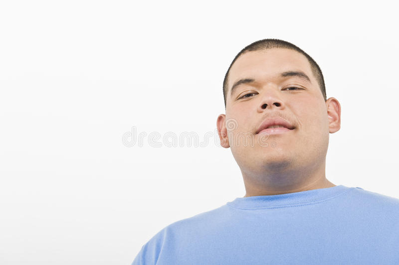 Portrait Of An Obese Young Man royalty free stock images