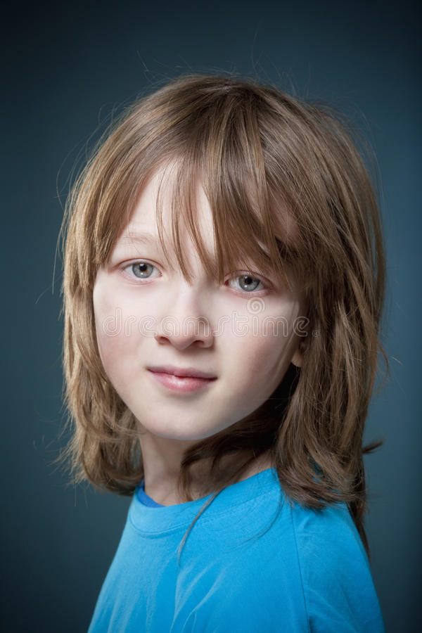 Free Portrait Of A Boy With Blond Hair Stock Image - 83950981