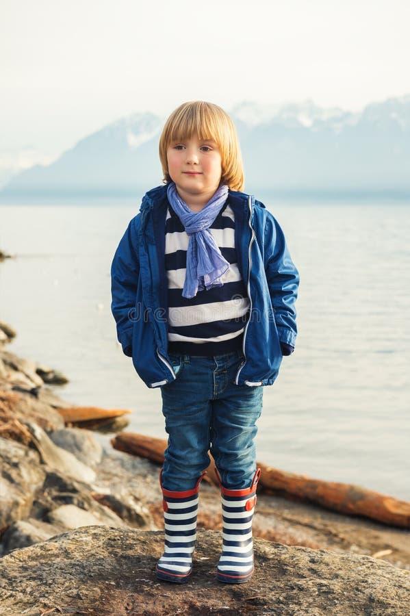 Free Portrait Of A Cute Little Boy Stock Image - 66502941