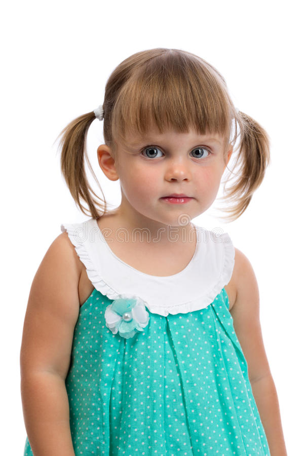 Free Portrait Of A Little Charming Girl Royalty Free Stock Image - 43586936