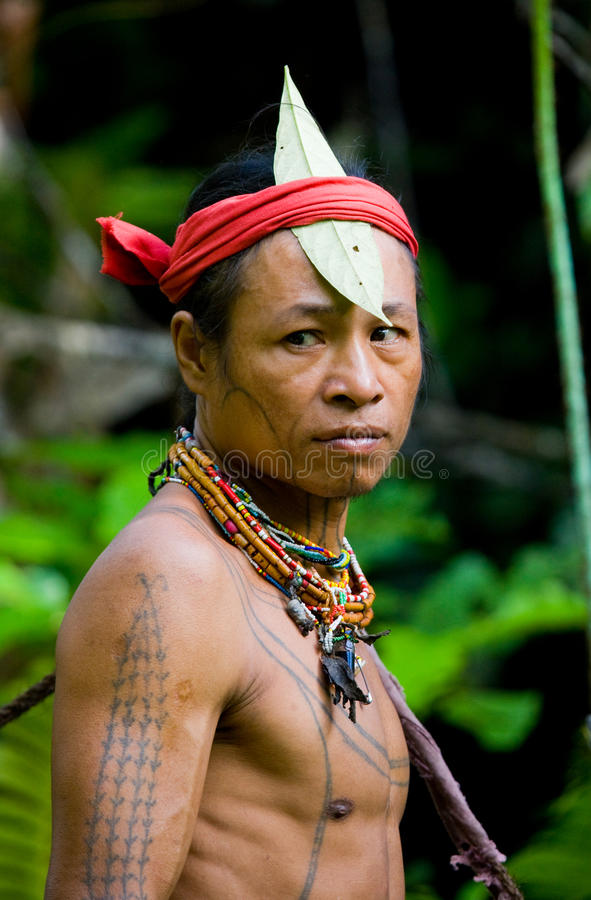 Free Portrait Of A Man Mentawai Tribe. Close-up. Stock Images - 81024534