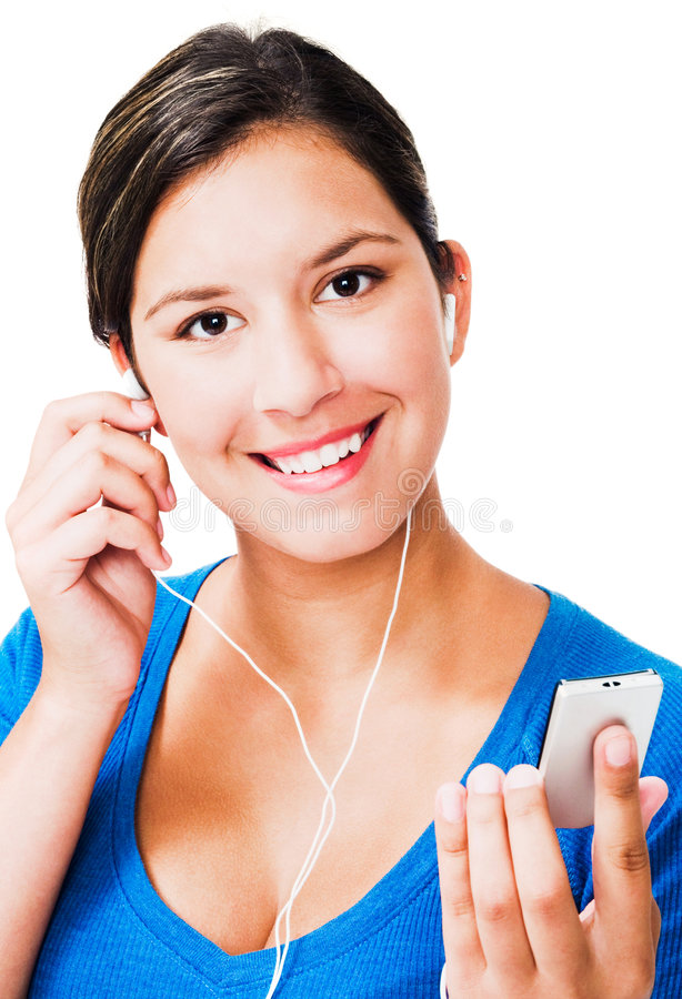 Free Portrait Of A Woman Listening Mp3 Royalty Free Stock Photos - 9158198