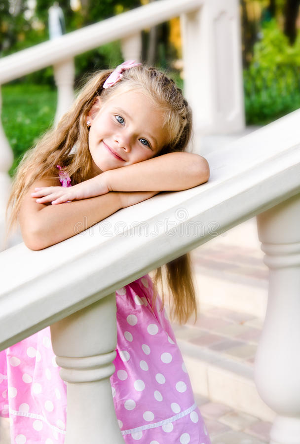Free Portrait Of Adorable Little Girl In The Park Stock Images - 44181384