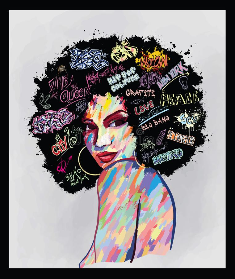 Free Portrait Of An Afro American Woman Face Stock Images - 135937704