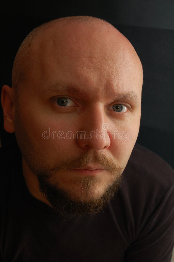 Free Portrait Of Bald-headed Man Royalty Free Stock Images - 7329149