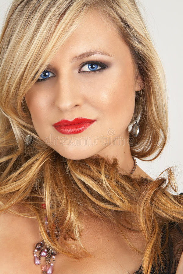 Free Portrait Of Beautiful Blonde Woman Stock Image - 9873551