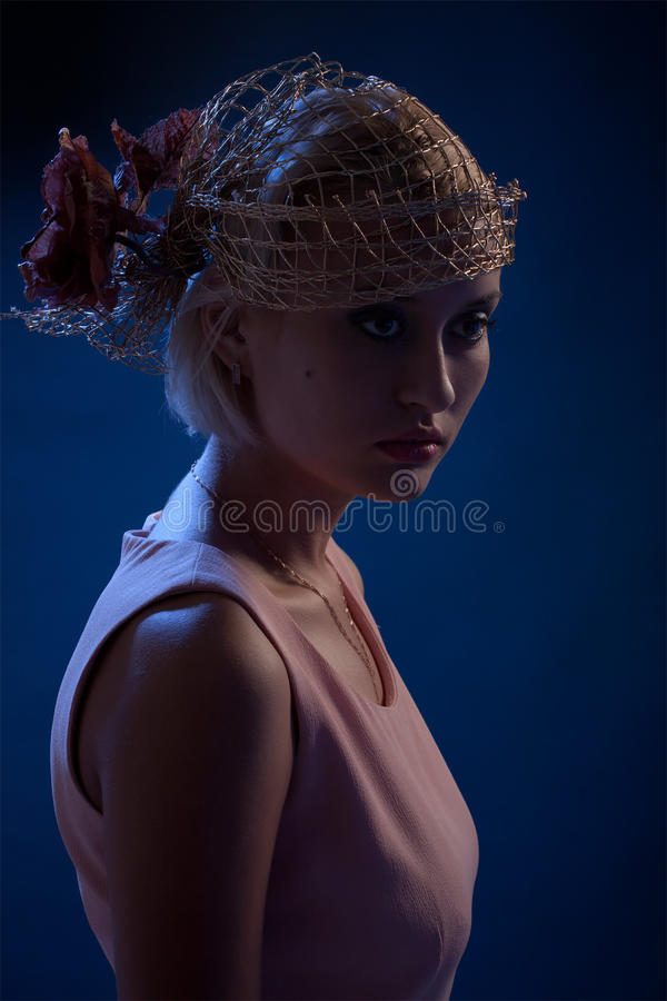 Free Portrait Of Beautiful Retro-style Woman Stock Photography - 11939762