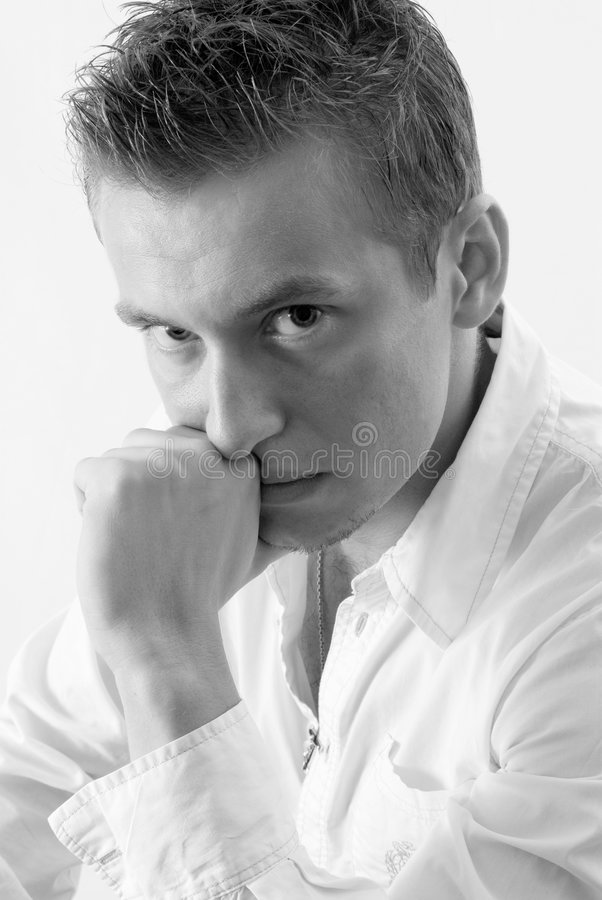 Free Portrait Of Blond Young Man Royalty Free Stock Photos - 3262178