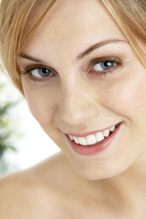 Free Portrait Of Blonde Smiling Woman Stock Photos - 12406803