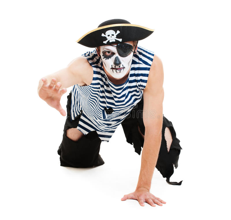 Free Portrait Of Cruel Pirate Stock Image - 21054701