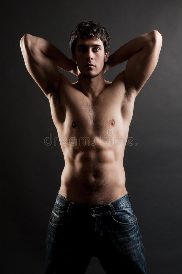 Free Portrait Of Handsome Muscleman Stock Images - 8849724