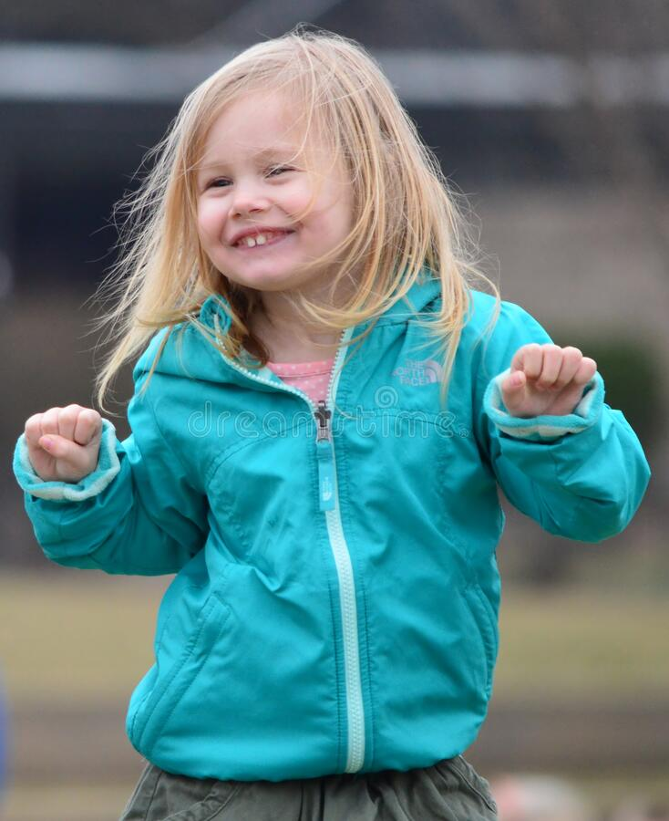 Free Portrait Of Happy Little Girl On St. Patrick`s Day Stock Photography - 217396402