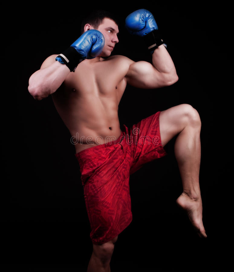 Free Portrait Of Kickboxer Royalty Free Stock Photo - 13069765