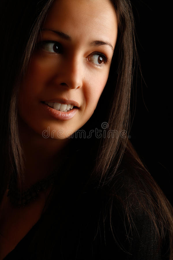 Free Portrait Of Naturaly Beautiful Brunette Stock Photography - 18102252