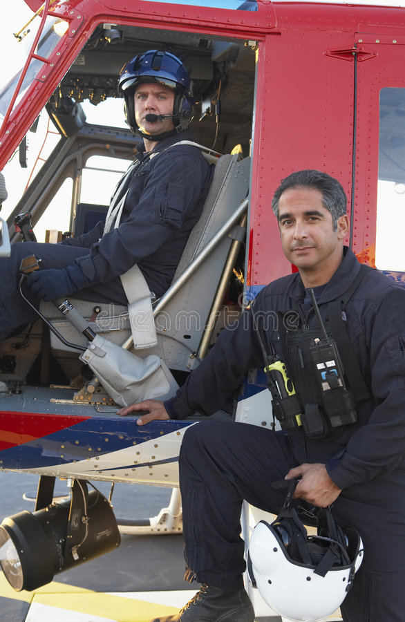 Free Portrait Of Pilot And Paramedic By Medevac Stock Photography - 9003732