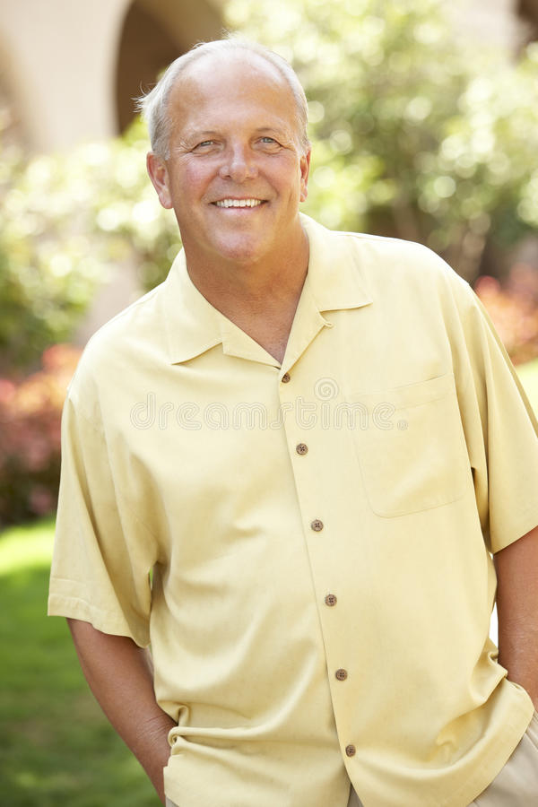 Free Portrait Of Senior Man In Park Stock Image - 12406471