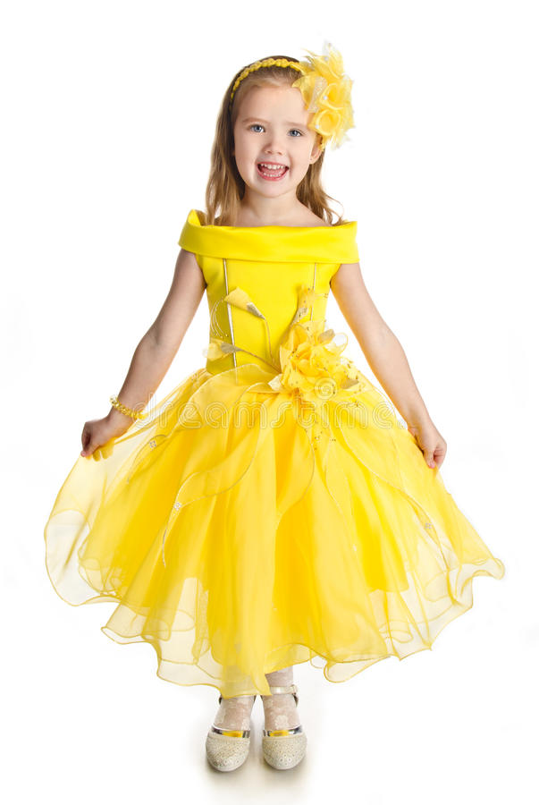 Free Portrait Of Singing Little Girl In Princess Dress Royalty Free Stock Photo - 27404105