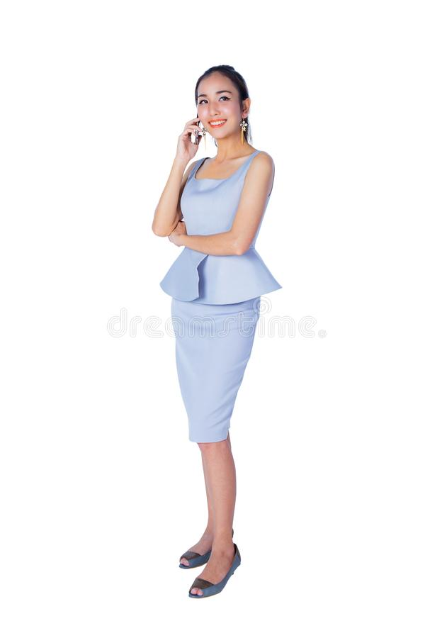 Free Portrait Of Smiling Business Woman Phone Talking , Isolated Royalty Free Stock Photos - 108918728