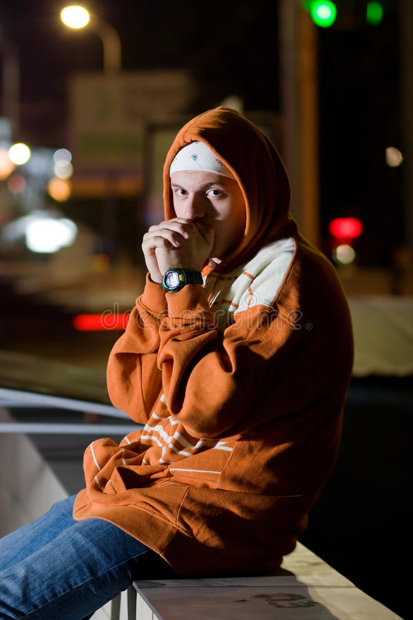 Free Portrait Of Teenager At Night Stock Photo - 16182820