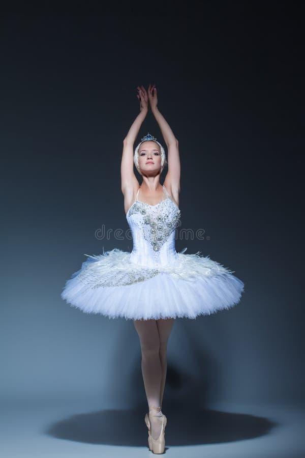 Free Portrait Of The Ballerina In Ballet Tatu On Blue Royalty Free Stock Photos - 60813318