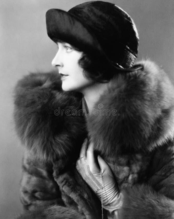 Free Portrait Of Woman Wearing Fur Coat Stock Image - 52012171