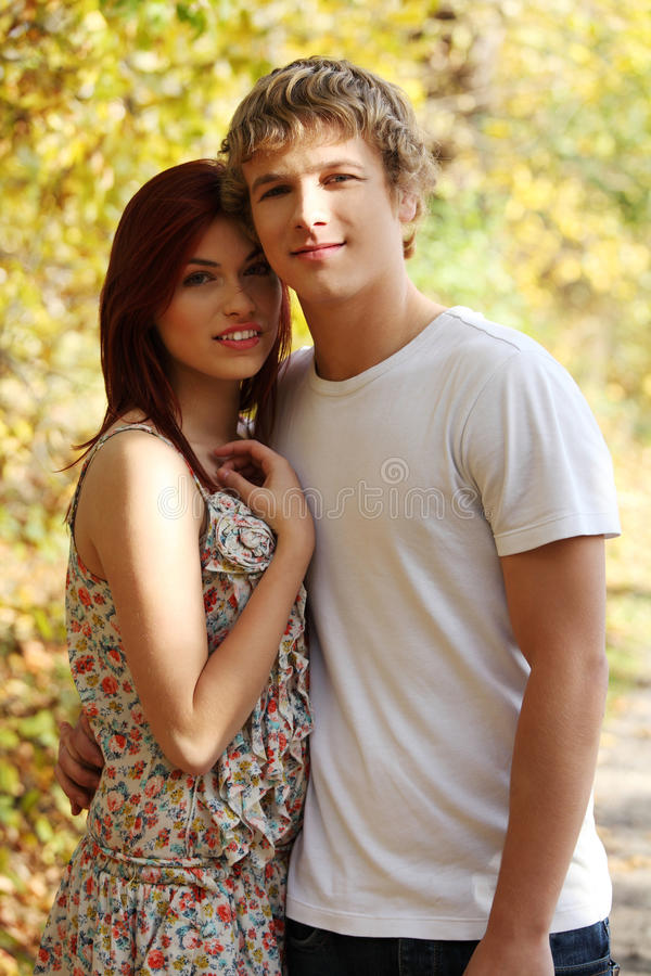 Free Portrait Of Young Couple On Stroll. Royalty Free Stock Images - 22178319