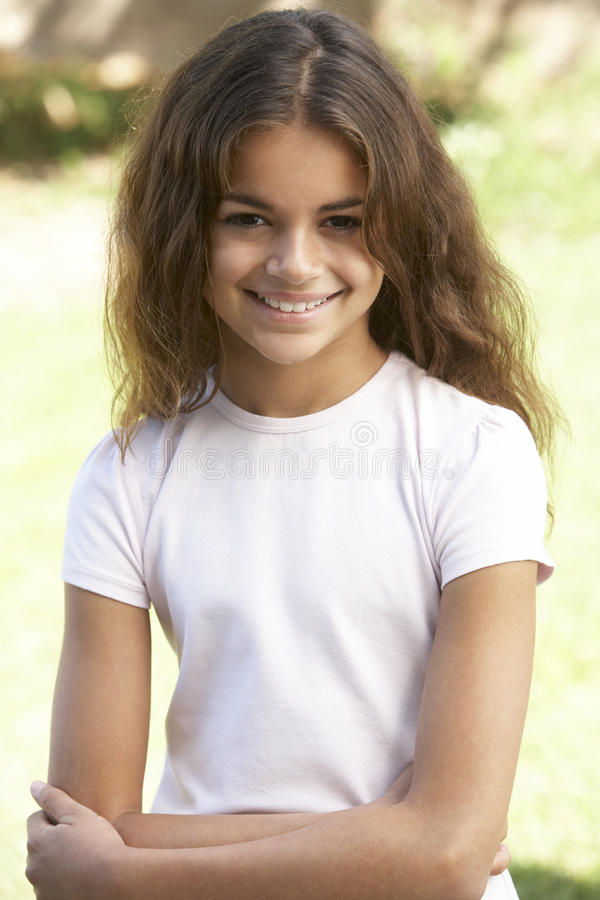 Free Portrait Of Young Girl In Park Royalty Free Stock Photos - 12405738