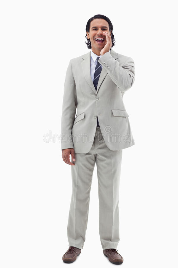 Download Portrait Of An Office Worker Shouting Stock Image - Image of hands, executive: 22663685