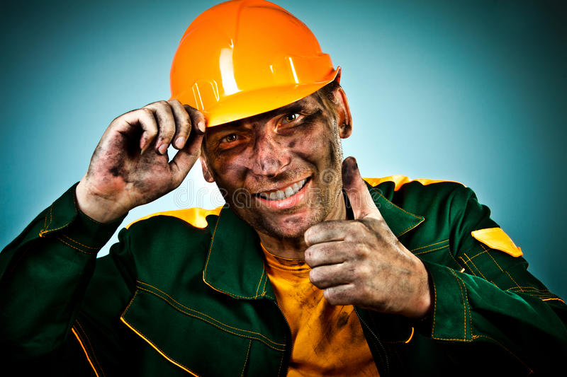 Portrait oil industry worker royalty free stock images