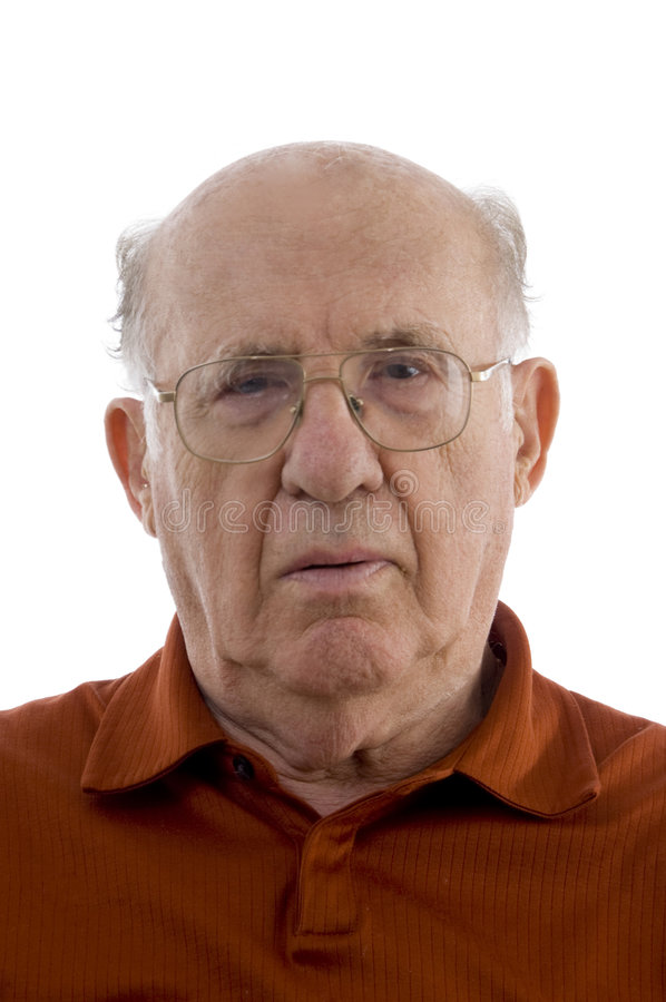 Portrait of old man stock photography